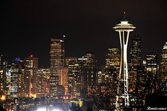 Seattle Night Views at Kerry Park