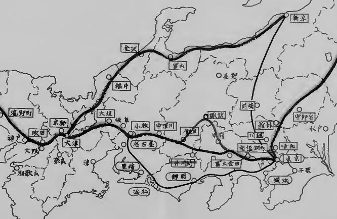 昭和39年高速道路路線図2