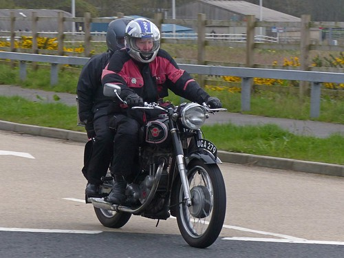 Jim on the 1957 Matchless G3LS 350cc