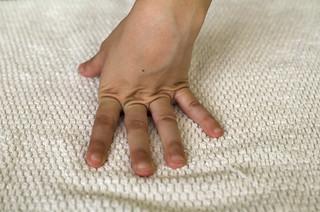 Estiramiento de los dedos de la mano