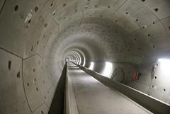 Lege tunnelbuis Noord-Zuidlijn