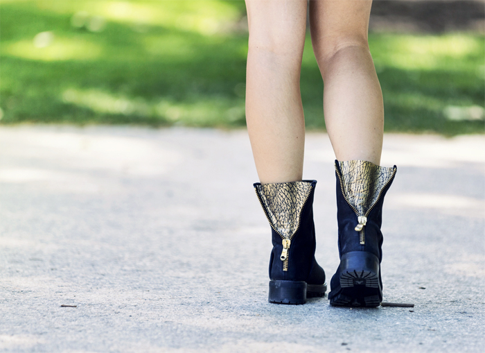 street style barbara crespo golden details zara el retro fashion blogger outfit blog de moda
