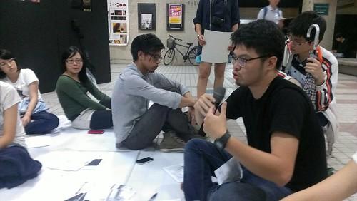 參與論壇同學發表看法。攝影:郭叡。