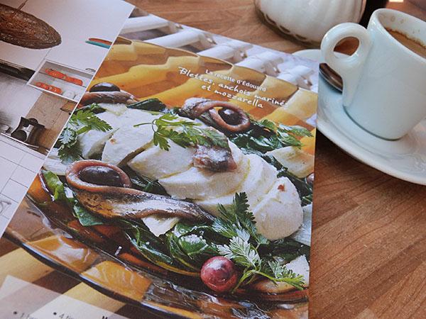 anchois et mozza
