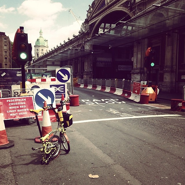 Well this will be a surprise if the road works are still here for the #nocturne on the 7th June. Gets very narrow here