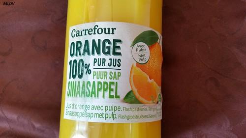 jus d'orange 100% de carrefour