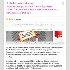 Twitter-Debatte mit einem parlamentarischen Staatssekretär zur #VDS http://ichsagmal.com/2015/06/28/sieh-haben-keine-ahnung-verschworungstheorien-beleidigungen-gahn-tweets-des-spdlers-ulrichkelber-zur-vds-umfaller-debatte/