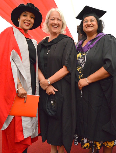 Lachmi Singh with Law lecturers