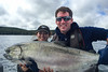 38.5 pound Chinook salmon at Langara Island Lodge