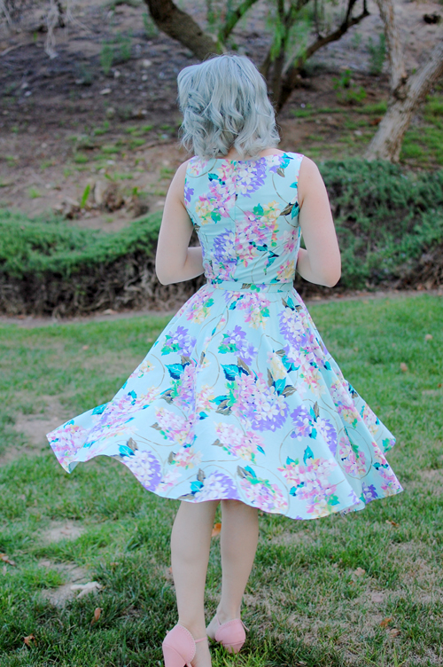 Heart of Haute Mercedes dress in Bouquet Print