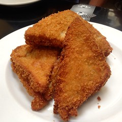 meal, tonkatsu, panko, fried food, chicken fingers, schnitzel, food, dish, cuisine, fast food,