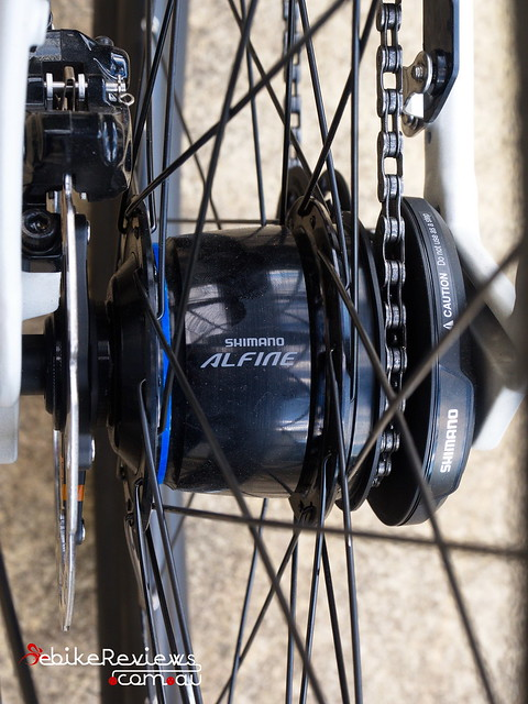 "Shimano Alfine 8 • <a style=""font-size:0.8em;"" href=""https://www.flickr.com/photos/ebikereviews/20372147475/"" target=""_blank"">View on Flickr</a>"