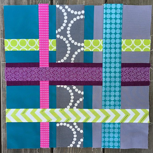 Hope my partner likes the start I've gotten on this mini quilt! Needs a trim and borders and, as always, to figure out how to quilt it. #SewMyStashMiniQuiltSwap #StashSewerTeamAmanda