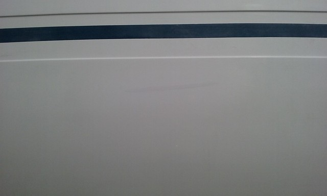 Réparation gel coat franc bord tribord