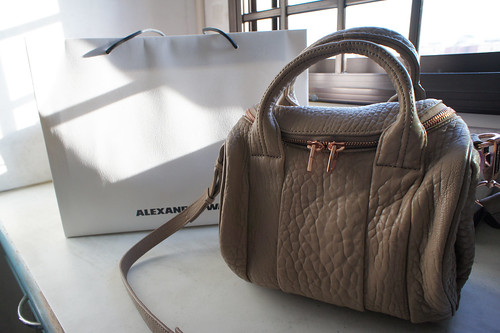 Alexander Wang Rockie in Latte with Rose Gold
