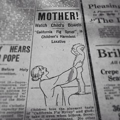 Watch child's bowels! #harmless #laxative #add #vintage