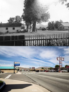 Frontier Motel Then and Now