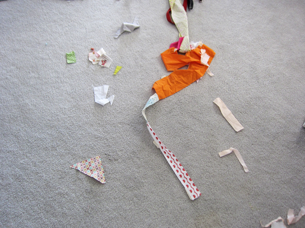 puppy + sewing room = disaster