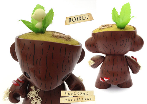 KEEPER-OF-THE-FOREST-MORROW-GREEN-MUNNY-KIDROBOT-TAYLORED-CURIOSITIES-ART-DOLL-CUSTOM-TOY-11