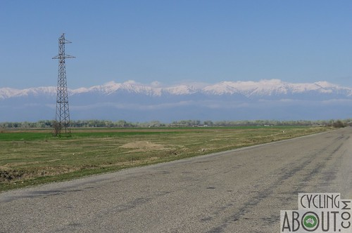 Beautiful road with the Caucasus Mountains as our backdrop