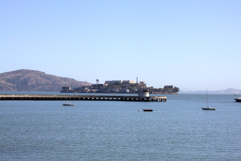 Alcatraz and Municipal Pier at Aquatic Park