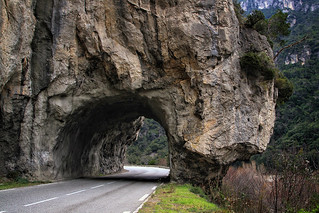 The tunnel in the mountains