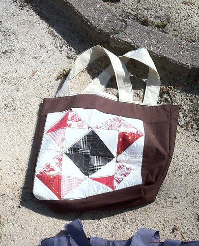 Bag #10 (red/black block)