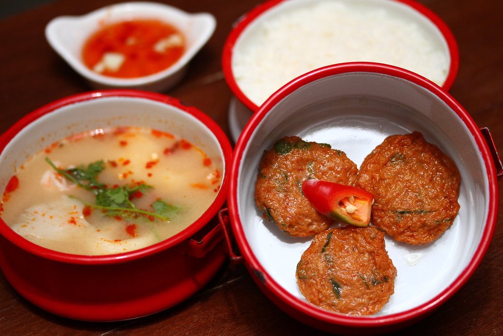 Folks Collective: Thai fish cakes, creamy tom yam seafood soup and steamed jasmine rice