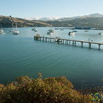 Akaroa Dock in Early Morning - New Zealand