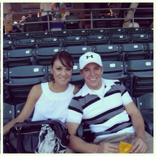 Sean and me at a baseball game in July 2008! #tbt #thowbackthursday #loversinlove