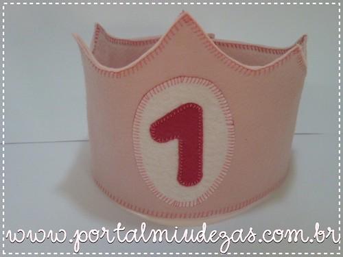 Coroa Princesa Personalizada by miudezas_miudezas