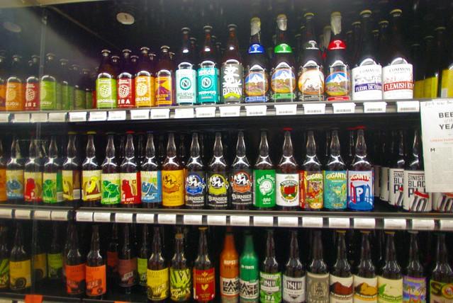ホールフーズマーケットのビール棚