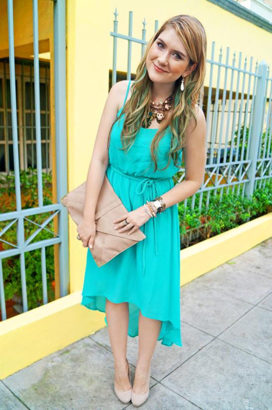 Aqua blue outfit