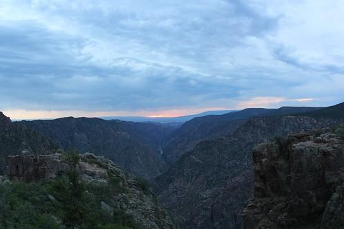 sunset nationalpark nps canyon overlook blackcanyonofgunnison deaftalent deafoutsidetalent deafoutdoortalent