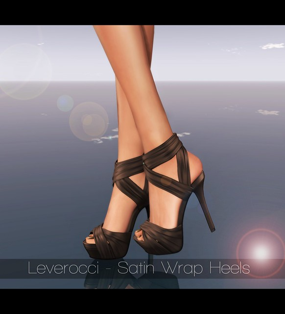 Leverocci - Satin Wrap Heels_Brown & -Belleza- SLink Appliers Feet