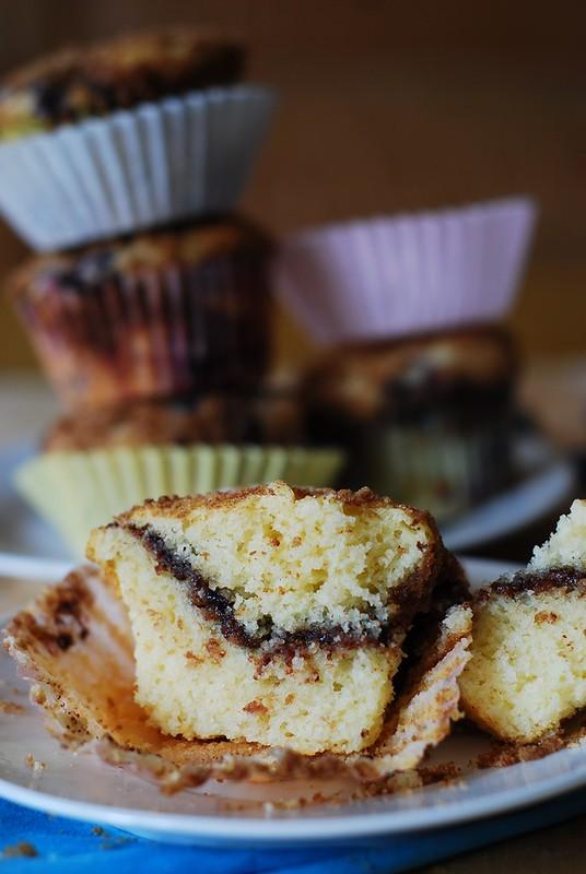 Greek yogurt muffins with nutella