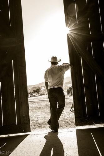 california sun man guy barn person cowboy desert sunburst brianknott forgetmeknottphotography fmkphoto