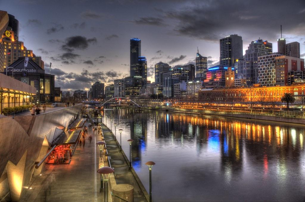 Dusk over City of Melbourne
