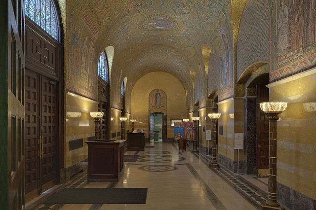 Cathedral Basilica of Saint Louis, in Saint Louis, Missouri, USA - Narthex