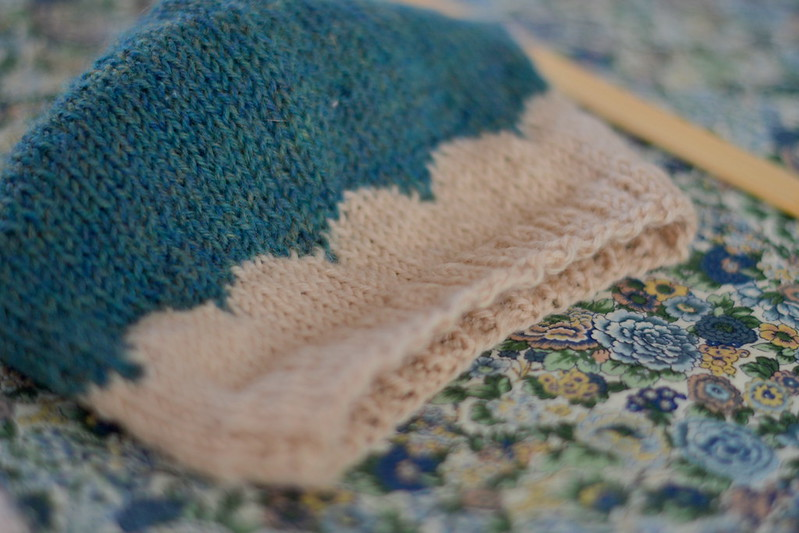scalloped beanie
