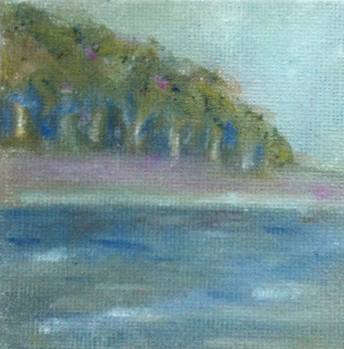 Woods and Shore (Mini-Painting Final on Aug. 24, 2013) by randubnick