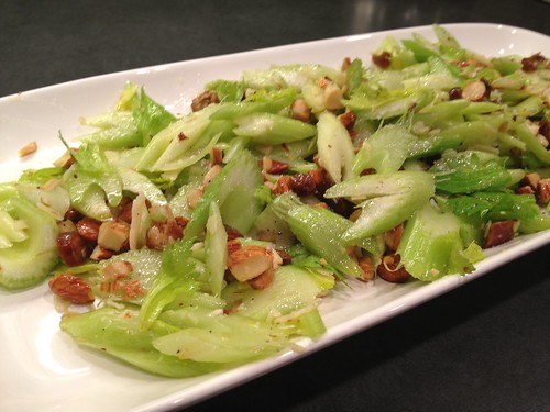 The Bitten Word: Celery Salad with Dates, Almonds and Parmesan