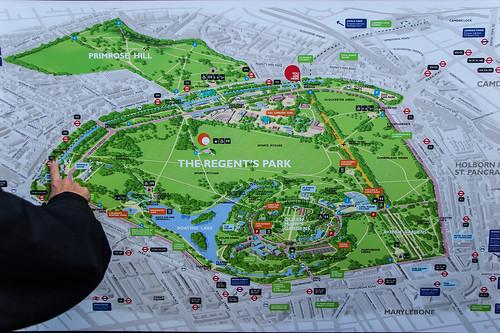 Plan du Regent's Park