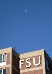 Moon with FSU sign