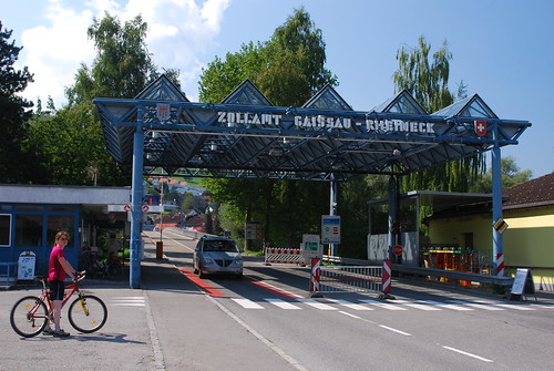 Customs post on the Swiss border