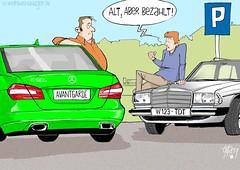 Mercedes-Benz, PKW, E-Klasse, Baureihe W123, Baureihe W212, Farbzeichnung digital