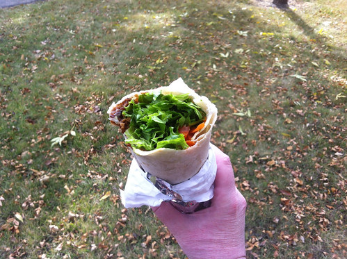 Vegan BLT wrap from Sailin' On