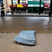 Discarded mattress on street in Brighton Beach the morning after Sandy by stephen nessen