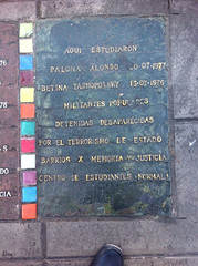 Photo of Paloma Alonso and Betina Tarnopolsky grey plaque