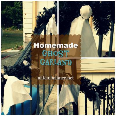 Homemade Ghost Garland